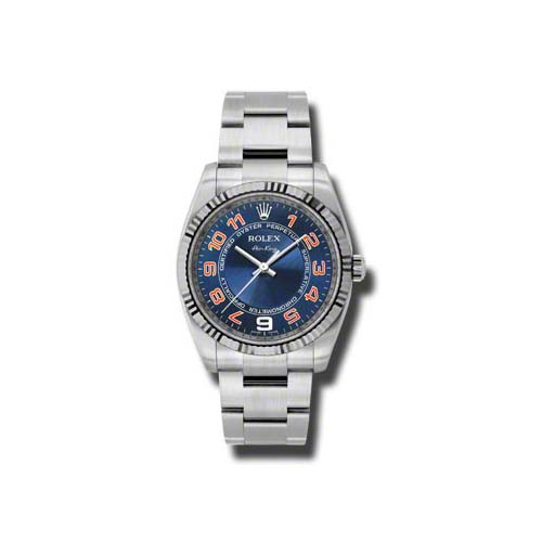 Oyster Perpetual Air-King 34mm Fluted Bezel 114234 blcao