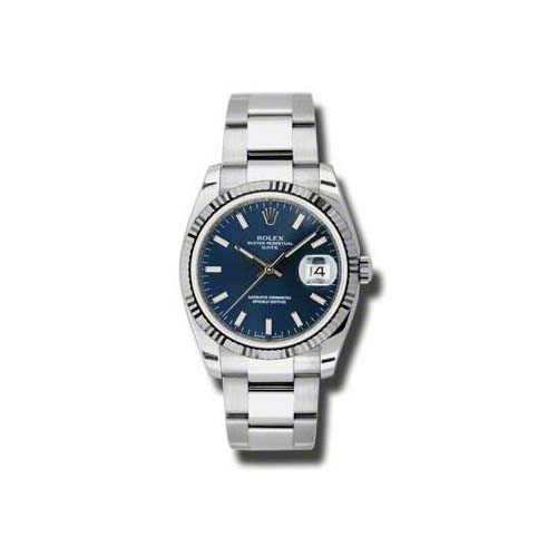 Oyster Perpetual Date 34mm Fluted Bezel 115234 blio