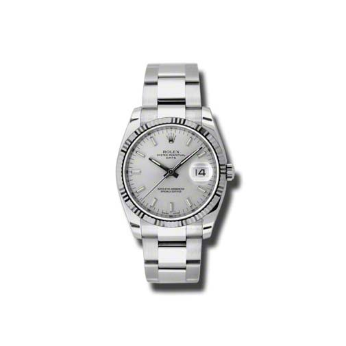 Oyster Perpetual Date 34mm Fluted Bezel 115234 sso