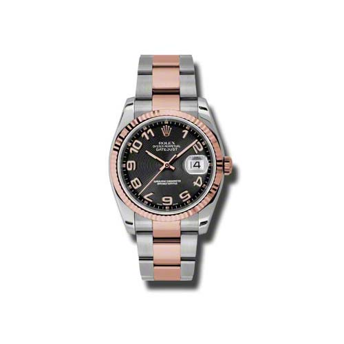 Oyster Perpetual Datejust 36mm Fluted Bezel 116231 bkcao