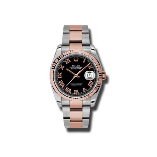 Oyster Perpetual Datejust 36mm Fluted Bezel 116231 bkro
