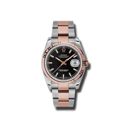 Oyster Perpetual Datejust 36mm Fluted Bezel 116231 bkso