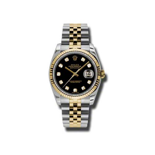 Oyster Perpetual Datejust 36mm Fluted Bezel 116233 bkdj