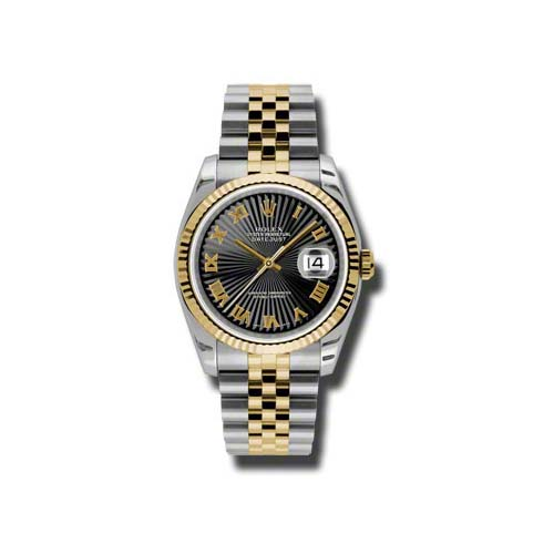 Oyster Perpetual Datejust 36mm Fluted Bezel 116233 bksbrj
