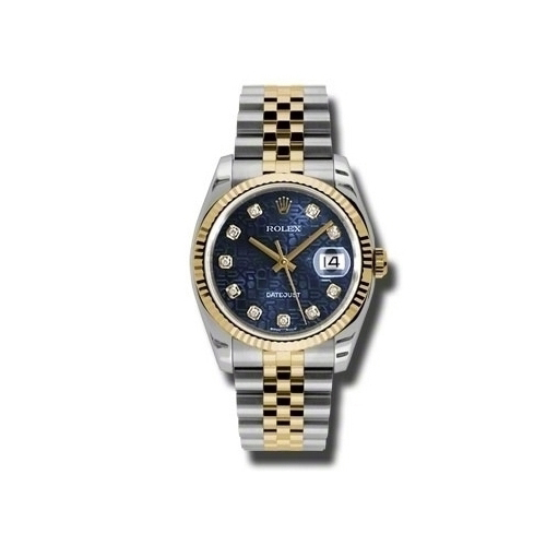 Oyster Perpetual Datejust 36mm Fluted Bezel 116233 bljdj