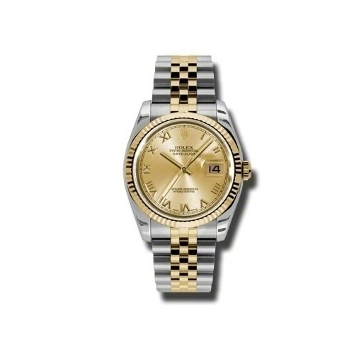 Oyster Perpetual Datejust 36mm Fluted Bezel 116233 chrj