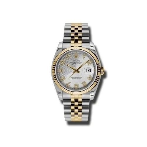 Oyster Perpetual Datejust 36mm Fluted Bezel 116233 scaj