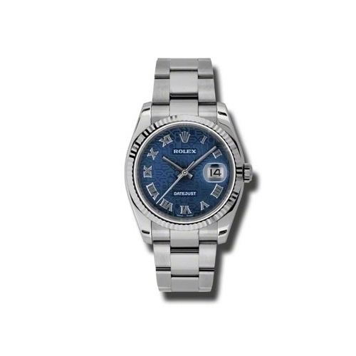 Oyster Perpetual Datejust 36mm Fluted Bezel 116234 bljro