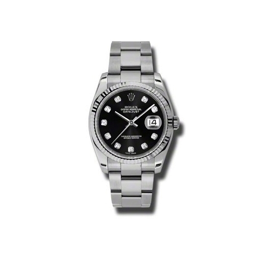 Oyster Perpetual Datejust 36mm Fluted Bezel 116234 bkdo