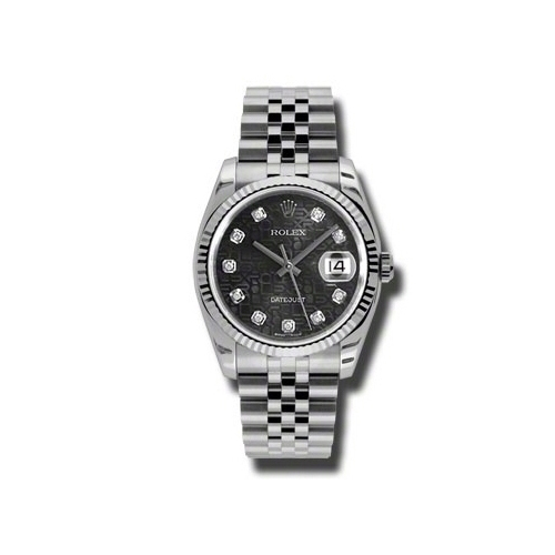 Oyster Perpetual Datejust 36mm Fluted Bezel 116234 bkjdj