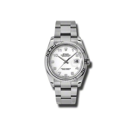 Oyster Perpetual Datejust 36mm Fluted Bezel 116234 wao