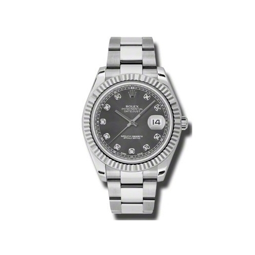 Oyster Perpetual Datejust II 41mm Fluted Bezel 116334 rdo