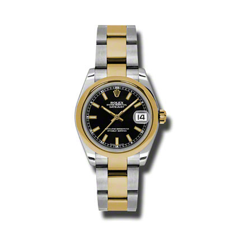 Oyster Perpetual Datejust 31mm Domed Bezel 178243 bkio