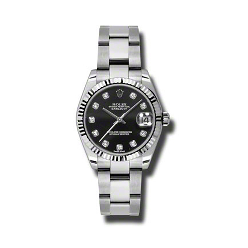 Oyster Perpetual Datejust 31mm Fluted Bezel 178274 bkdo
