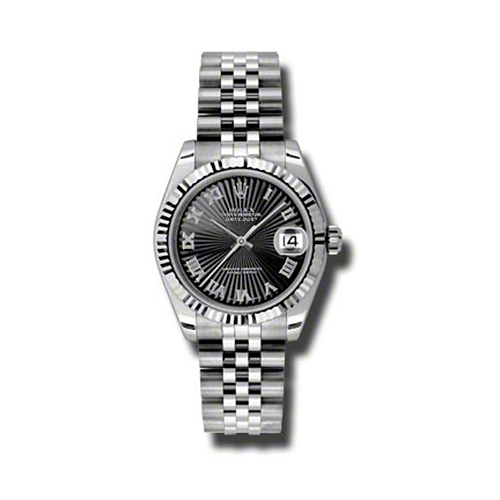 Oyster Perpetual Datejust 31mm Fluted Bezel 178274 bksbrj