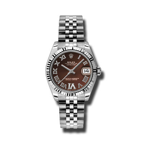 Oyster Perpetual Datejust 31mm Fluted Bezel 178274 brdrj