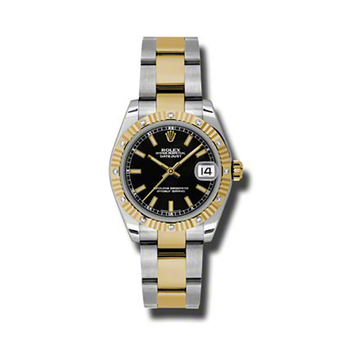 Oyster Perpetual Datejust 31mm Diamond Fluted Bezel 178313 bkio