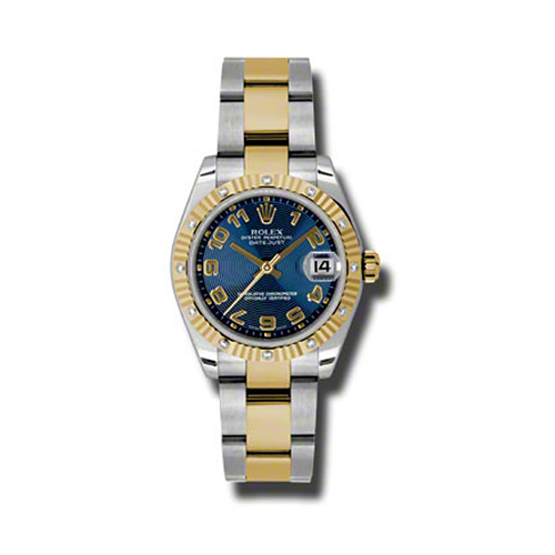 Oyster Perpetual Datejust 31mm Diamond Fluted Bezel 178313 blcao