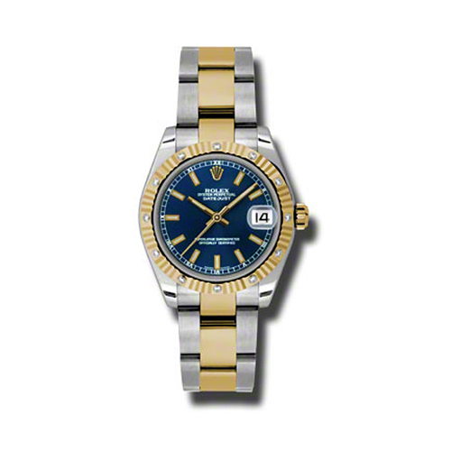 Oyster Perpetual Datejust 31mm Diamond Fluted Bezel 178313 blio