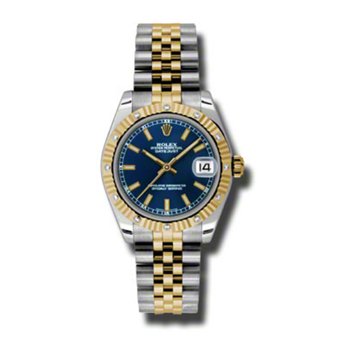 Oyster Perpetual Datejust 31mm Diamond Fluted Bezel 178313 bsj