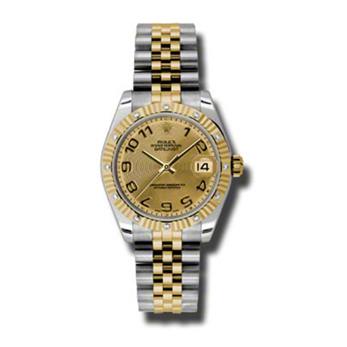 Oyster Perpetual Datejust 31mm Diamond Fluted Bezel 178313 chcaj