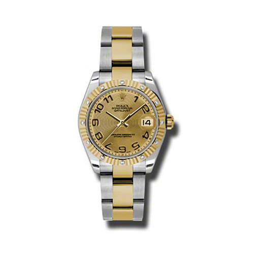 Oyster Perpetual Datejust 31mm Diamond Fluted Bezel 178313 chcao