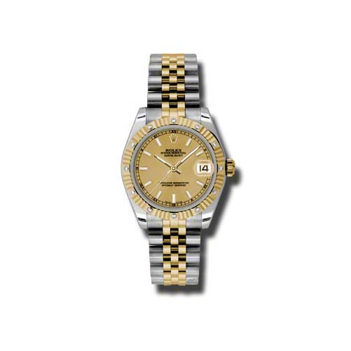 Oyster Perpetual Datejust 31mm Diamond Fluted Bezel 178313 chij
