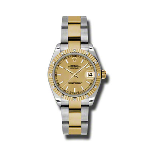 Oyster Perpetual Datejust 31mm Diamond Fluted Bezel 178313 chio