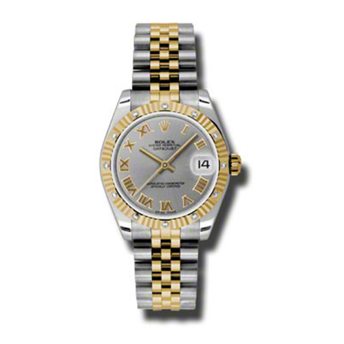 Oyster Perpetual Datejust 31mm Diamond Fluted Bezel 178313 grj