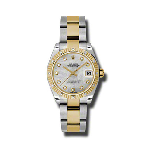 Oyster Perpetual Datejust 31mm Diamond Fluted Bezel 178313 mdo