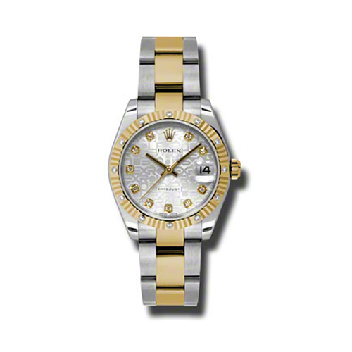 Oyster Perpetual Datejust 31mm Diamond Fluted Bezel 178313 sjdo