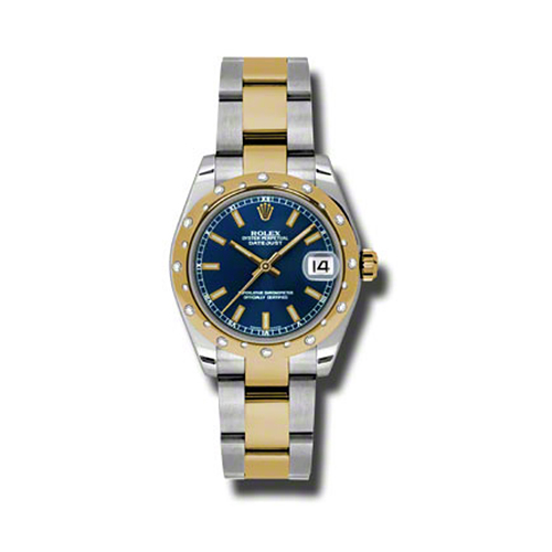 Oyster Perpetual Datejust 31mm Diamond Domed Bezel 178343 blio