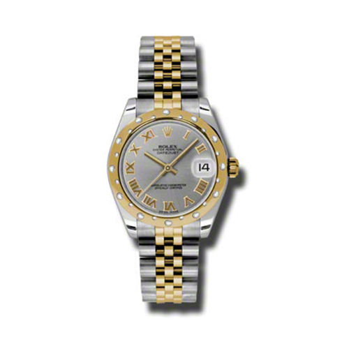 Oyster Perpetual Datejust 31mm Diamond Domed Bezel 178343 grj