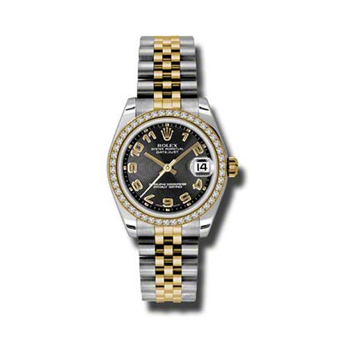 Oyster Perpetual Datejust 31mm Diamond Bezel 178383 bkcaj