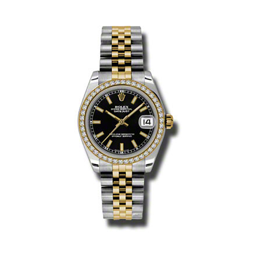 Oyster Perpetual Datejust 31mm Diamond Bezel 178383 bkij