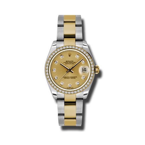 Oyster Perpetual Datejust 31mm Diamond Bezel 178383 chdo