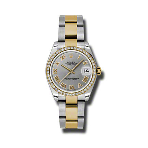 Oyster Perpetual Datejust 31mm Diamond Bezel 178383 gro