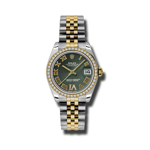 Oyster Perpetual Datejust 31mm Diamond Bezel 178383 ogdrj