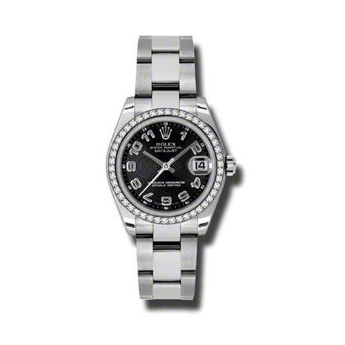 Oyster Perpetual Datejust 31mm Diamond Bezel 178384 bkcao
