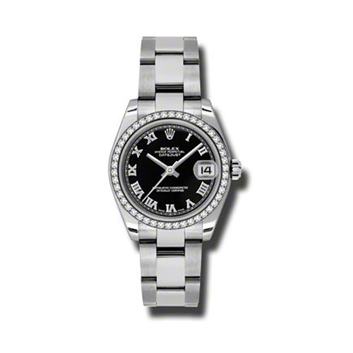 Oyster Perpetual Datejust 31mm Diamond Bezel 178384 bkro