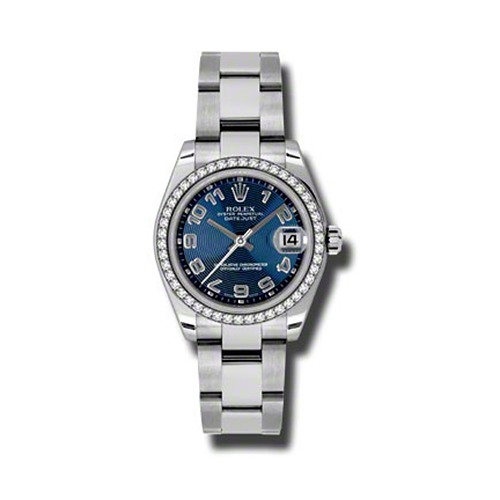 Oyster Perpetual Datejust 31mm Diamond Bezel 178384 blcao
