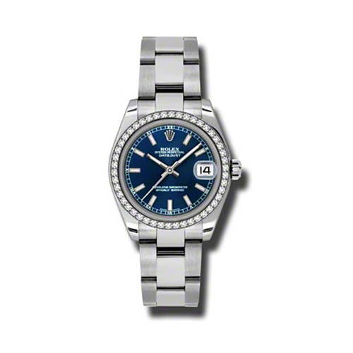 Oyster Perpetual Datejust 31mm Diamond Bezel 178384 blio