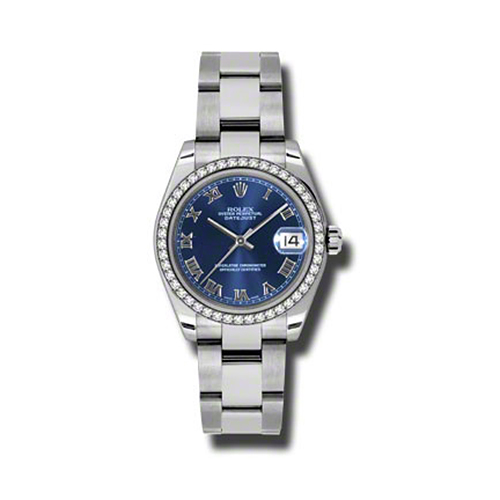 Oyster Perpetual Datejust 31mm Diamond Bezel 178384 blro