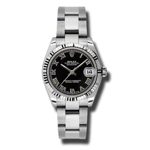 Oyster Perpetual Datejust 31mm Fluted Bezel 178274 bkro