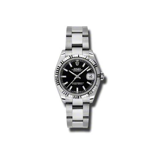 Oyster Perpetual Datejust 31mm Fluted Bezel 178274 bkso