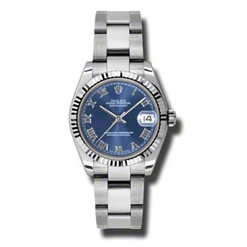 Oyster Perpetual Datejust 31mm Fluted Bezel 178274 blro
