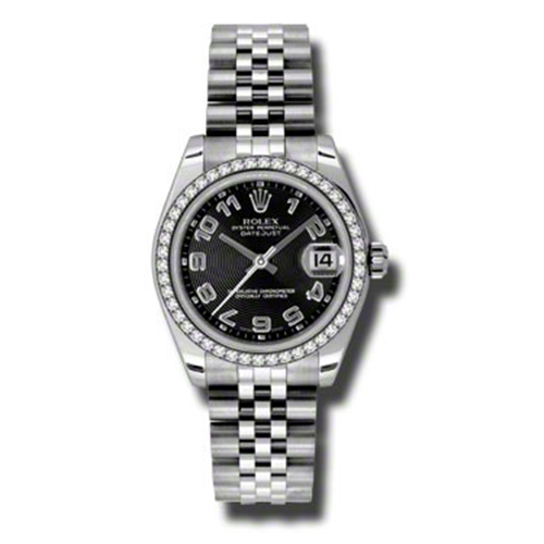 Oyster Perpetual Datejust 31mm Diamond Bezel 178384 bkcaj
