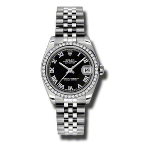 Oyster Perpetual Datejust 31mm Diamond Bezel 178384 bkrj
