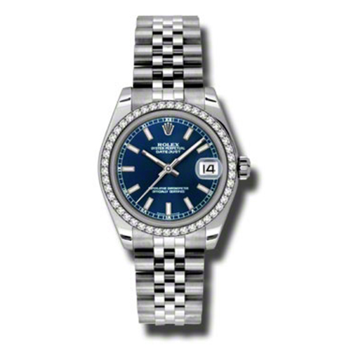 Oyster Perpetual Datejust 31mm Diamond Bezel 178384 blij