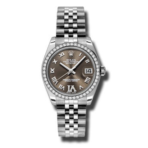 Oyster Perpetual Datejust 31mm Diamond Bezel 178384 brdrj